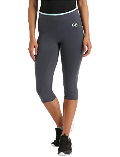 Ultrasport Damen 3/4 Fitnesshose Capri, grau (Grey/Mint), M