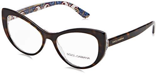 Dolce & Gabbana 0DG3285 Monturas de gafas, Havana On New Maiolica, 52 para Mujer