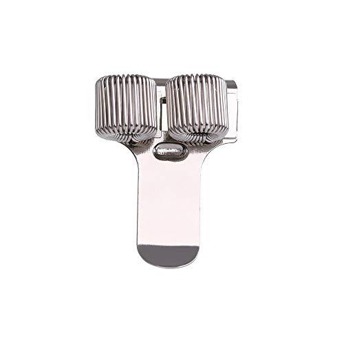 1 soporte de metal para bolígrafos de resorte con clip de bolsillo para médicos, enfermera, uniforme, suministros de oficina (color: 2)