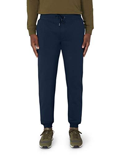 Everbasics Pantalones de chándal largos para hombre con algodón orgánico y equipamiento antibacteriano para mayor protección, higiene y frescura. azul marino XL