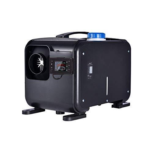 12V Diesel Standheizung Luftheizung Air Diesel 8KW 10L Tank Fernbedienung LCD-Anzeige Für LKW, Boot, Autoanhänger, Wohnmobile, Tourenwagen, Wohnmobile, Wohnwagen, Schwarz