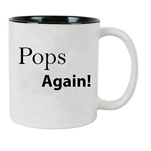 N\\A ¡Pops de Nuevo! Taza de café de cerámica de 11 onzas con Caja de Regalo, Color Negro