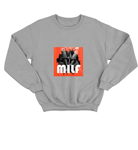 LumaCrewnecks Milf Bondage Power Hard Sex_005814 Cute Funny Sweater Sweatshirt Pullover Present - XL Grey Crewneck