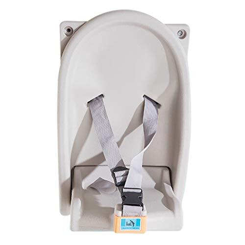 LIU UK Baby Changing Table Rabattez BéBé à Langer Couche Horizontale Montage Mural Robuste Supports Durable Jusqu'à 110 LB avec SéCurité Sangles IdéAl pour Toilettes Commerciales