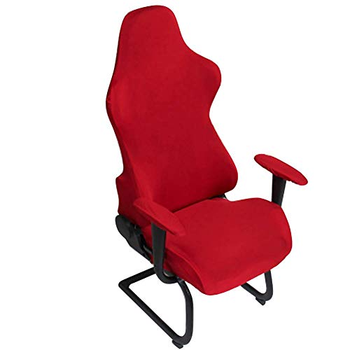 INGHU Stretchable Gaming Chair Covers, Spandex Computer Game Chair Slipcovers Office fauteuils beschermhoes voor bureaustoel, draaibare stoel, computerstoel