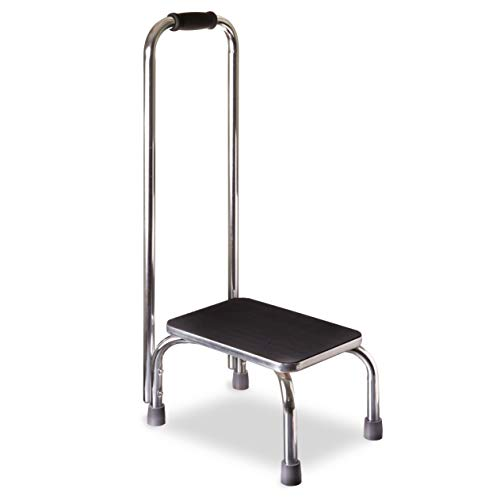 DMI Step Stool with Handle for Adults and Seniors Made of Heavy Duty Metal, Holds up to 300 Pounds with 9.5 Inch Step Up