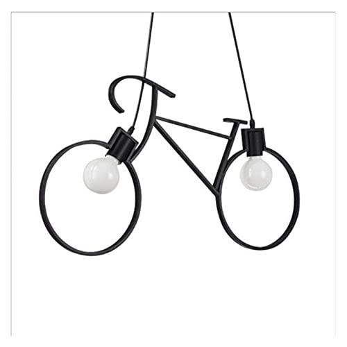 Accesorio de iluminación Industrial metal techo luz escandinavo estilo ajustable simple hierro forjado negro chandelier de bicicleta aplicable sala de estar sala de estar tienda barra colgante lámpara