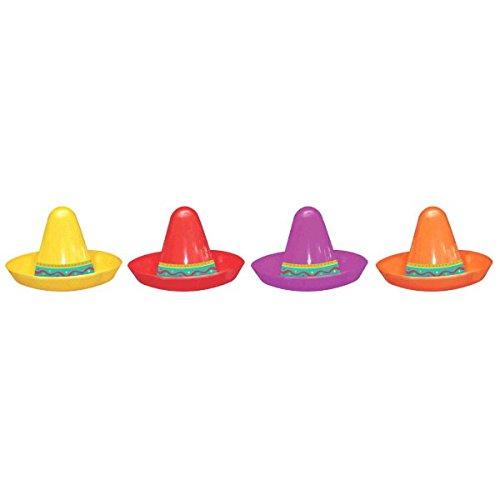 Amscan Mini Bunte Sombreros-8 Stück