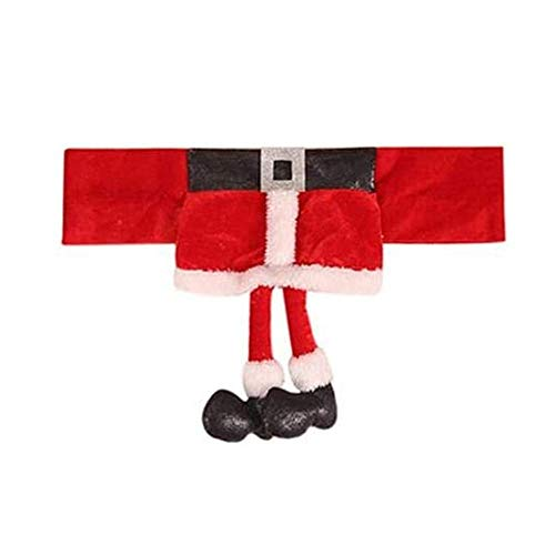 N/C Decoración de Fundas de Silla de Navidad Navidad Cubierta de la Silla Cinturón de Papá Noel Funda de Asiento de Silla de Navidad para decoración de Cena de Fiesta de Navidad
