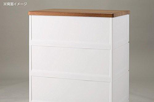 天馬チェストフィッツプラスメッシュホワイト4段幅65×奥行41×高さ85cm