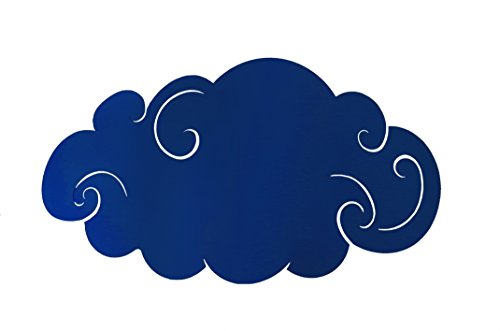 Tosel 31889 Applique 1 Lumière, Acier, E27, 40 W, Bleu, 34 x 9 cm