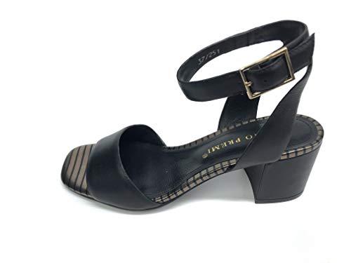 Bruno Premi R1405P Sandales Femme Cuir Noir/Or - Noir - Noir , 40 EU EU