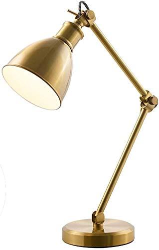DJSMtd Creativo Simple de Hierro Dorado Sala Tabla Decorativa Dormitorio de la lámpara de cabecera de la lámpara Oficina Estudio Tabla Lectura lámpara E27 Fuente de luz