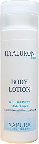 Body Lotion | NAPURA Körperlotion 200 ml | Hautstraffende Pflegelotion mit Hyaluronsäure