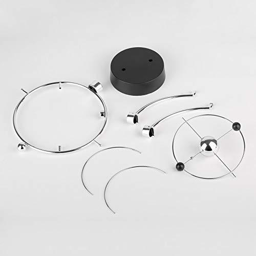 Rouku Magnetic Swing Kinetic Orbital Craft Schreibtisch Dekoration Perpetual Balance Celestial Globe Newton Pendel Home Ornamente (Silber)