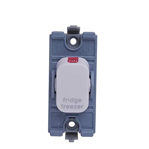 Schneider Electric GGBL20DPFFZW Lisse Module de commutation 2 pôles pour réfrigérateur/congélateur, 20 AX, Blanc