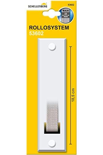 Schellenberg 53602 Placca tapparelle avvolgibili STANDARD Maxi: 23 mm di larghezza del nastro, piastra tapparella con spaziatura dei fori 18,5 cm, bianco