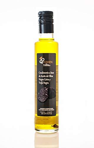 Aceite a la Trufa Negra 250ml. - Queen of Truffles - Condimento a base de Aceite de Oliva Virgen Extra
