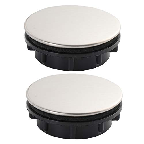 Toyvian - Juego de 2 grifos de Cocina con Agujero para Grifo, Tapa de Acero Inoxidable, dispensador de jabón