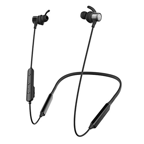 SOUNDPEATS Bluetooth Headphones, Neckband Wireless Earbuds for Sports, 30 Hours Playtime APTX HD Audio CVC Noise Cancellation, in-Ear Earphones Built in Mic, IPX5 Sweatproof Headset Bluetooth 5.0