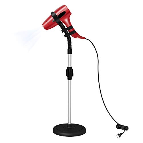 LuckIn Blow Dryer Stand, Hair Dryer Stand Hands Free, Hair Dryer Holder 360 Degrees Rotation, Adjustable Height Hair Dryer Holder