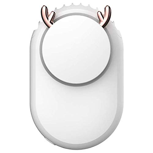 Portable Necklace Fan Handsfree Mini Fan USB Rechargeable Hanging Fan with 3-Level Speed Personal Fan for Outdoor Home Office Travel