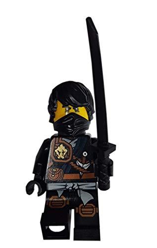 LEGO Ninjago: minifigura Cole (ninja negra con pelo) con Katana (espada)
