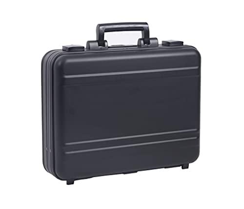 Urecimy Maleta de lujo de aluminio para portátil de 17 pulgadas con maletines de bloqueo para hombres - negro 21.7X15.7X4.5 pulgadas