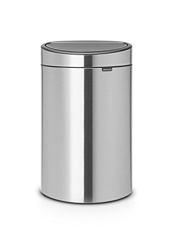 Brabantia Touch Bin New, 10 Gallon Matt Steel Fingerprint Proof