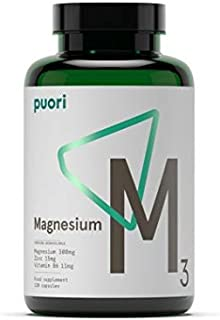 Puori - M3 High Quality Magnesium, Vitamin B6 11mg, Magnesium 300mg, Zinc, 15mg, Malic Acid 300mg (240ct)