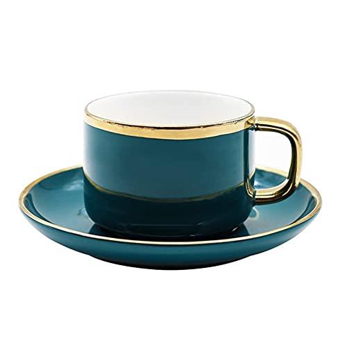 XDYNJYNL Set de taza de café y platillo de porcelana, 7.77oz / 230ml estilo chino tarde espresso tazas tazas de té capuchino tazas con asa de cacao tazas de cacao tazas de smoothie vasos de beber gafa