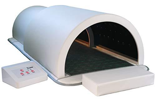 1Love Sauna Dome Premium, Far Infrared Therapy, Germanium & Tourmaline Energy Stones, Heating Mat, 360 Degree Complete Coverage Personal Sauna Capsule