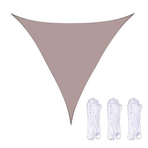 WlP Triangle Sun Shade Sail Canopy Toldo Cubierta de Tela para sombrilla Cubierta de Tela con 3 Cuerdas Bloque UV Impermeable para Patio al Aire Libre Jardín Patio Trasero 2 x 2 x 2M (Color : Khaki)