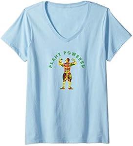 Plant Powered Vegetarian V-Neck T-Shirt
