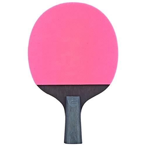 LIULU Ping-Pong Paddel 3-Sterne-Einzelaufnahme geeignet for Indoor- und Outdoor-Family Entertainment Typen Tischtennisschläger (Color : Pink, Größe : Straight Shot)