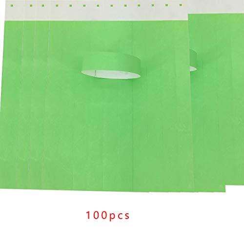Hotaluyt 100Pcs / Set wasserdichte Einweg Event Armbänder Non-Woven-Gewebe-Papier Armbänder Vergnügungspark Eintrittskarten