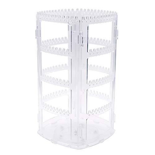 Oganizador Joyas Transparente 360 Giratorio Soportes para Joyas,Jewelry Organizer Expositor Colgador de Pendientes y Collares,Pulseras,Soporte de Joyas Regalo para Mujer