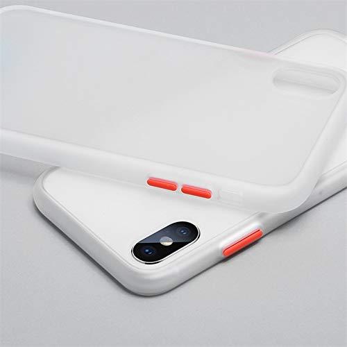 XLSJK Funda para Teléfono Luxury Transparent Matte Color Frame Phone Case For iPhone 6 6S 7 8 Plus X XS 11 Pro MAX XR Hard Pc Protective Back Cover Case For iPhone X Transparent