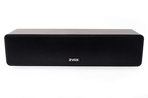 ZVOX Dialogue Clarifying Sound Bar with Patented Hearing Technology, Six Levels of Voice Boost - 30-Day Home Trial- AccuVoice AV100- Black