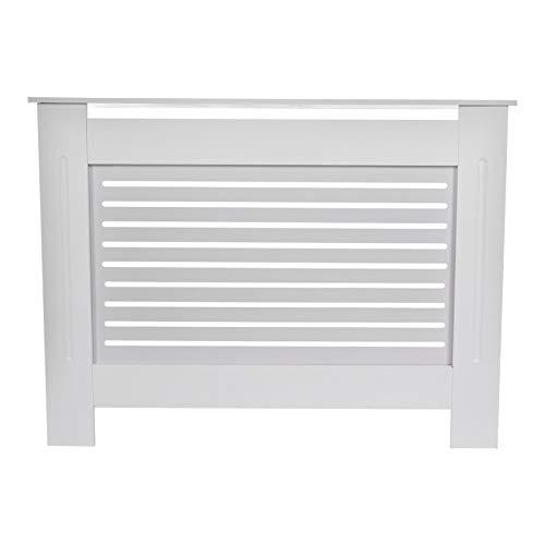 Cubierta de radiador blanca para gabinete con protección de radiador, apto para cualquier decoración, fácil de montar, para sala de estar, dormitorio, cocina, decoración perfecta del hogar