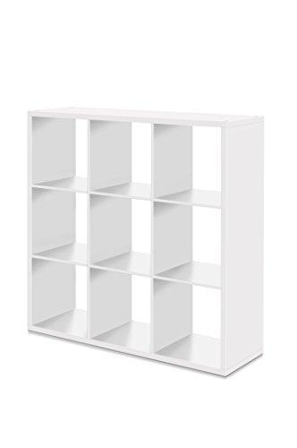 AVANTI TRENDSTORE - Max - Scaffale con vani aperti in laminato, disponibile in 2 diversi colori e 3 diverse misure (Bianco, 107x107x33 cm)