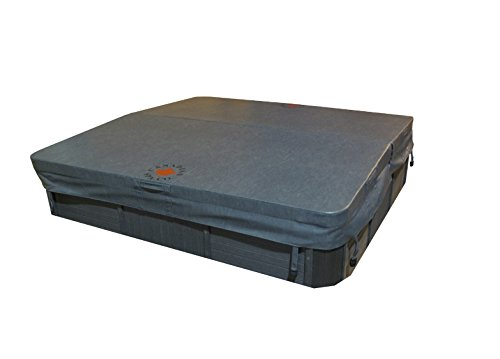 Canadian Spa Company 84 x 84 Zoll) G 4R Deluxe Hot Tub Spa, grau, 213 x 213 x 12,7 cm