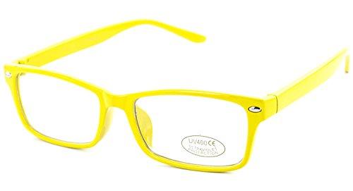 Nerd-Brille extra schmal gelb ohne Stärke Damen Herren Panto-Brille Lese-Brille Nerd-Brille Geek-Brille