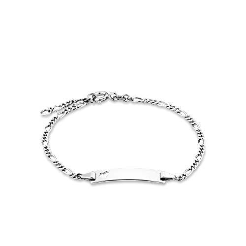amor Identarmband für Damen 18,5 cm gravierbar 925 Silber rhodiniert