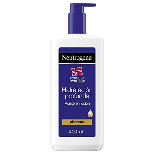 Neutrogena Aceite en loción hidratación profunda fórmula Noruega, piel seca, 400 ml