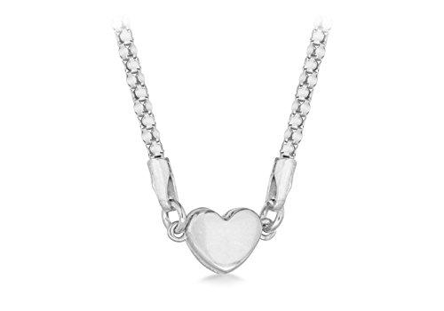 Tuscany Silver Damen Sterling Silber Magnetisch Verschluss Herz Popcorn Halskette 43 cm / 17 zoll
