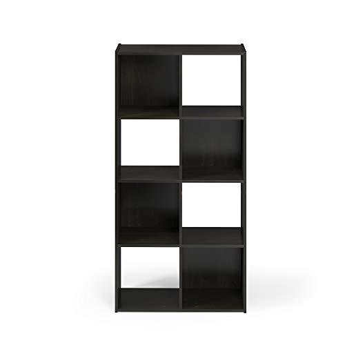 Furinno Pelli Cubic Storage Cabinet, 4x2, Espresso