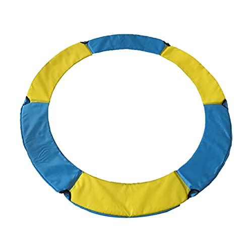 FJB Almohadilla de Seguridad Impermeable para el Trampolín, Almohadilla de Seguridad de Repuesto, Cubierta de Resorte Redonda Impermeable de Espuma de PVC