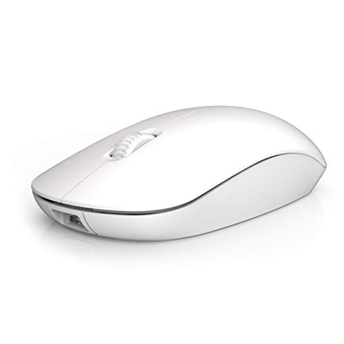 Wireless Mouse,Portable Ergonomic Mouse,Gaming Mouse,M108 2.4G Rechargeable Mute Wireless Bluetooth Gaming Mouse Computer Accessories - White Rechargeable