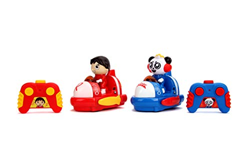Jada Toys Ryans World Bumper Cars Twin Pack Full Function Rc, Combo Panda & Ryan